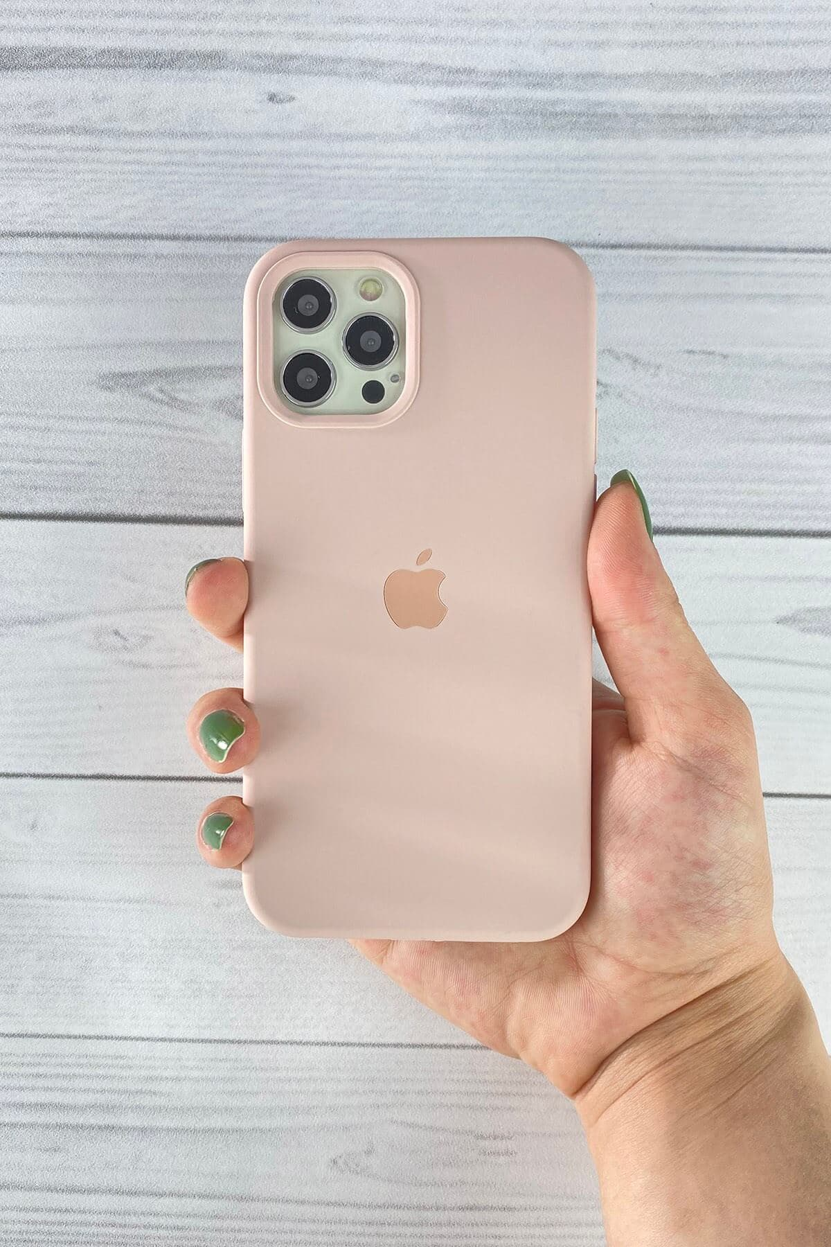 Iphone Toz Pembe Lansman Kılıf 12/12 Pro