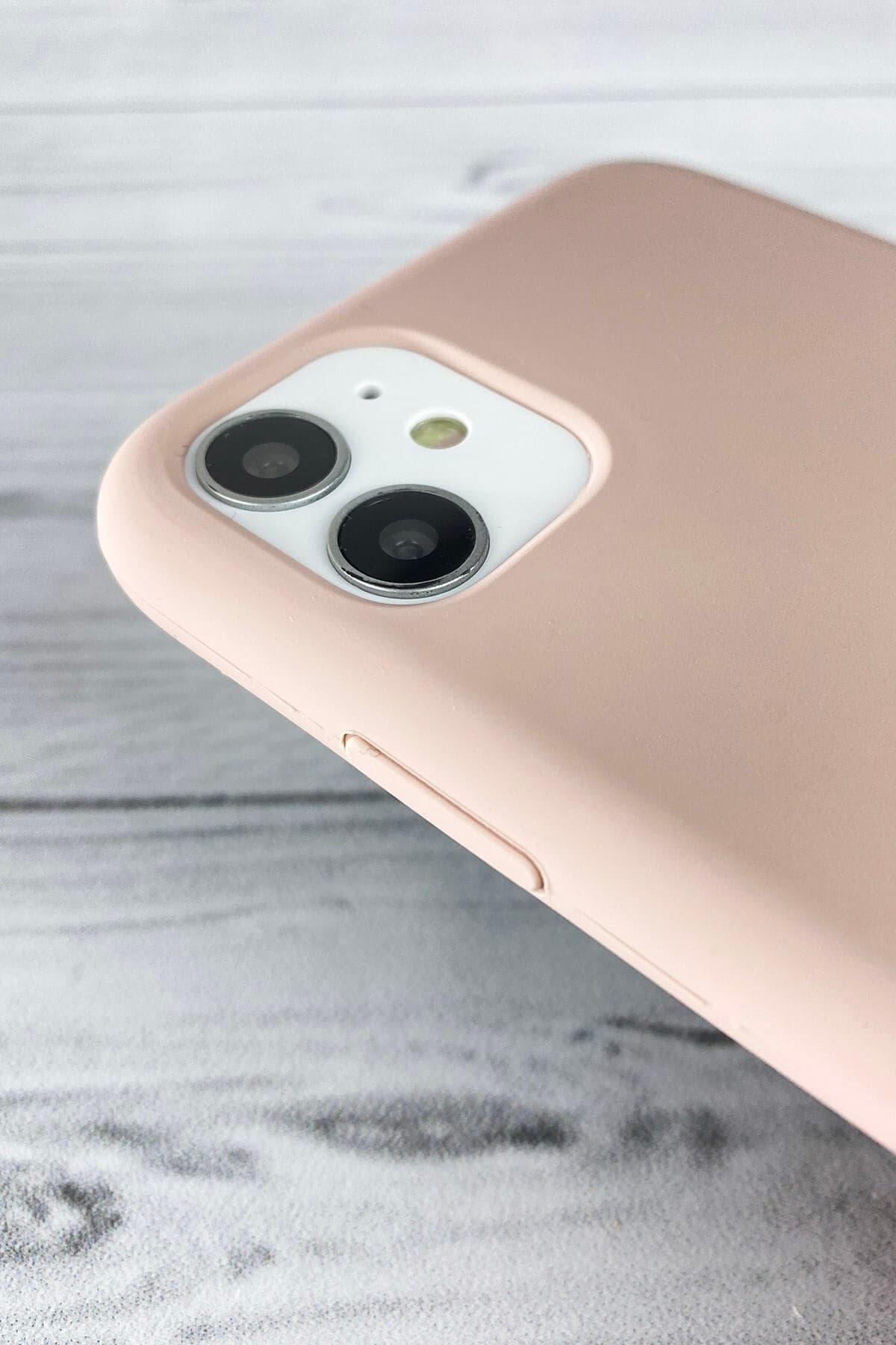 Iphone Toz Pembe Lansman Kılıf 11