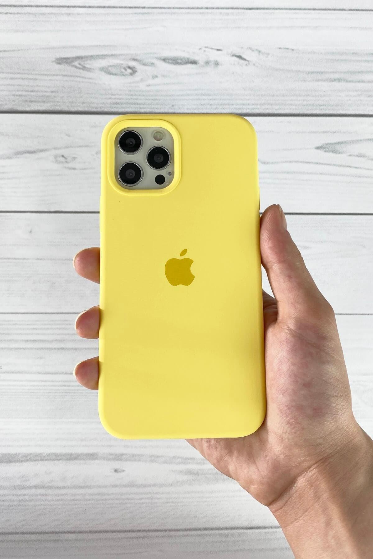 Iphone Sarı Lansman Kılıf 12/12 Pro