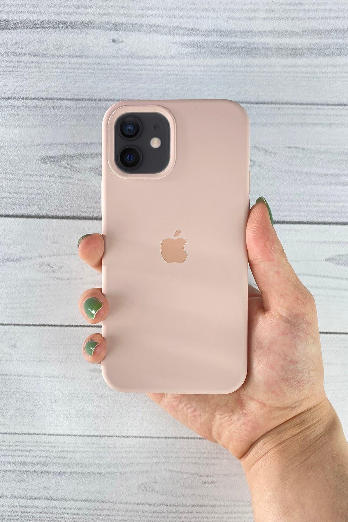 Iphone Toz Pembe Lansman Kılıf 12 Mini