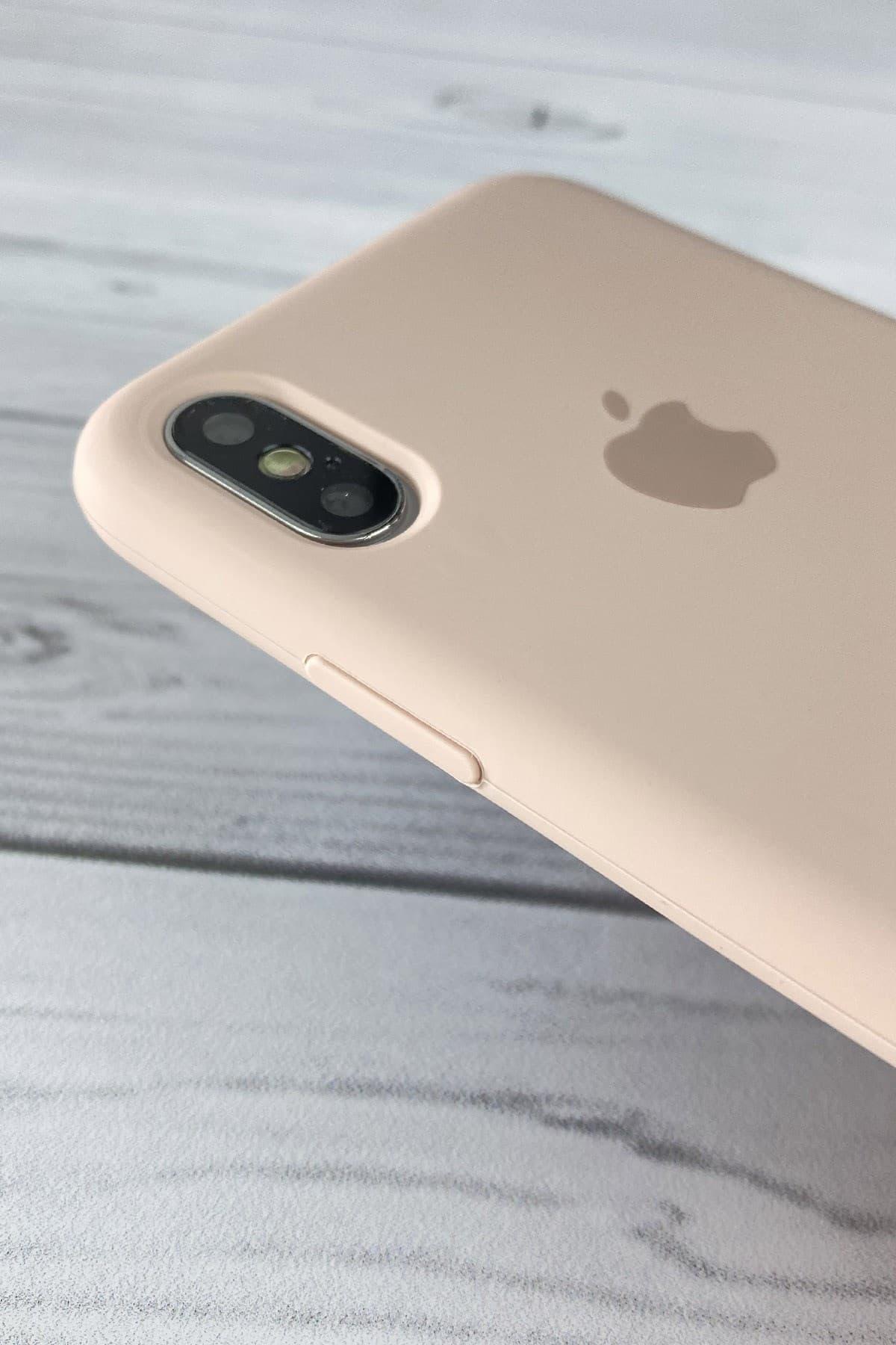 Iphone Toz Pembe Lansman Kılıf Xs-max