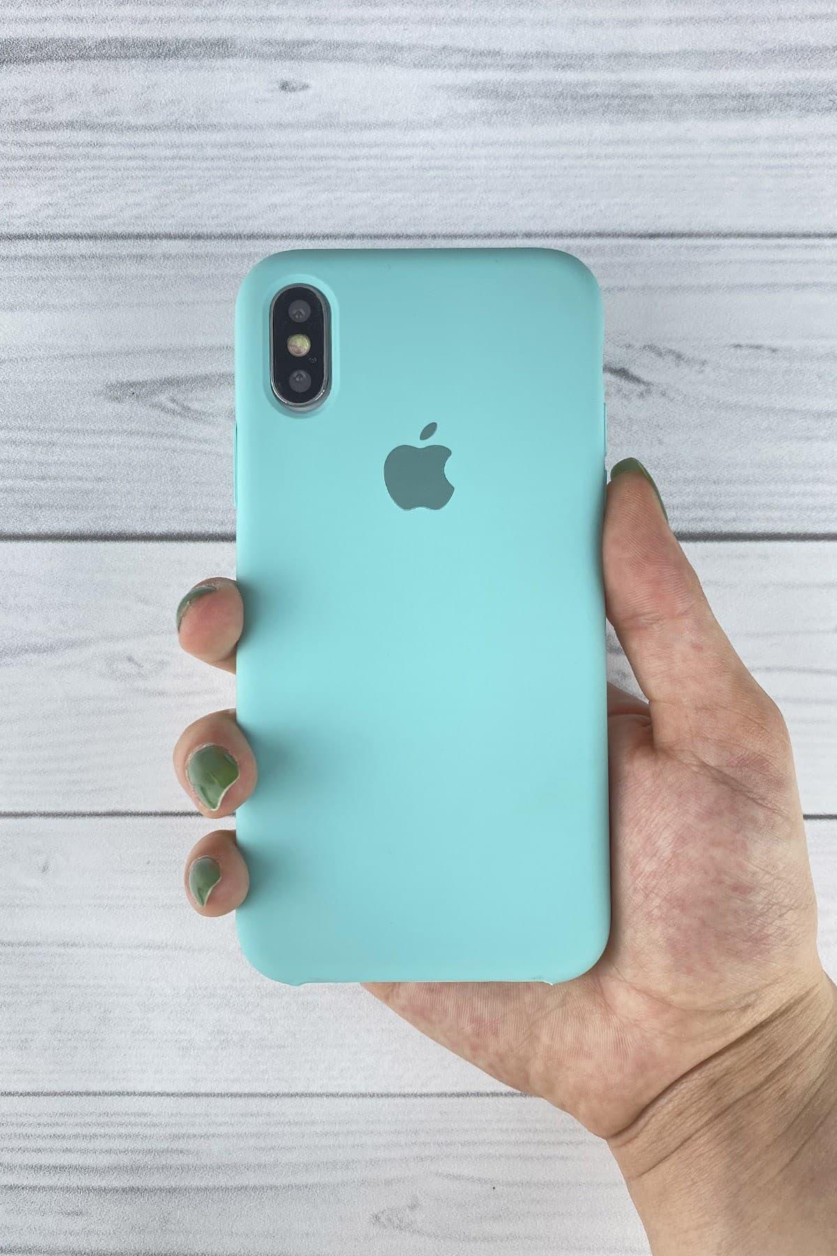 Iphone Turkuaz Lansman Kılıf Xs-max