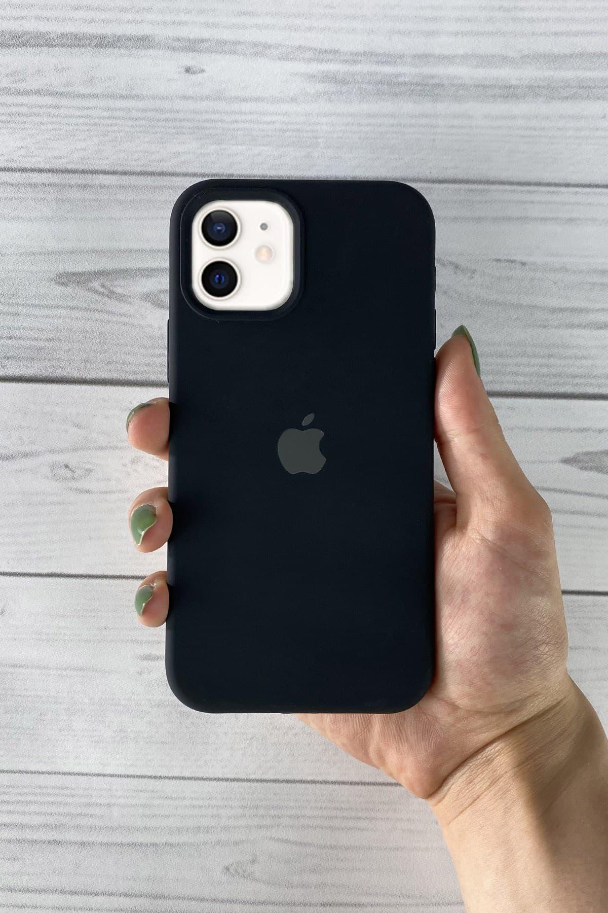 Iphone Siyah Lansman Kılıf 12 Mini