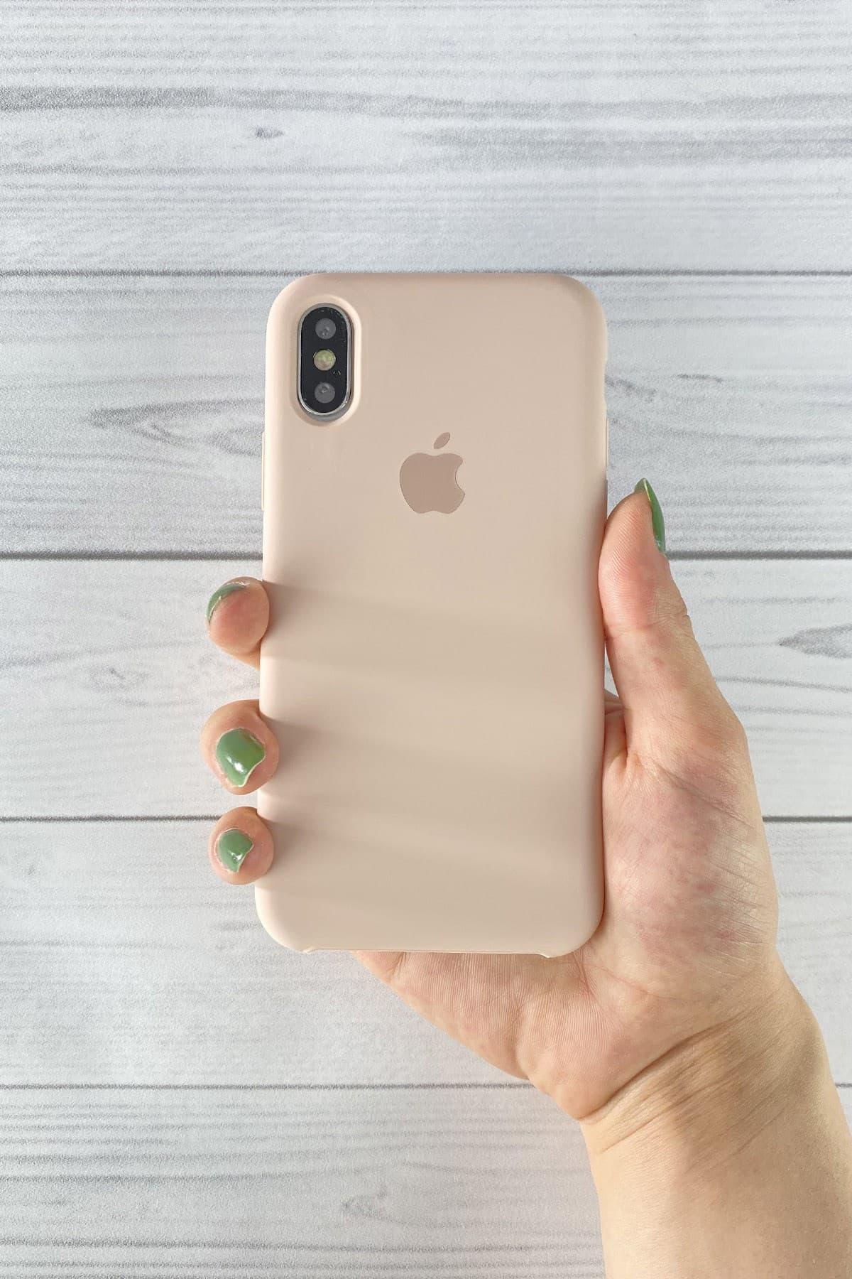 Iphone Toz Pembe Lansman Kılıf X/Xs