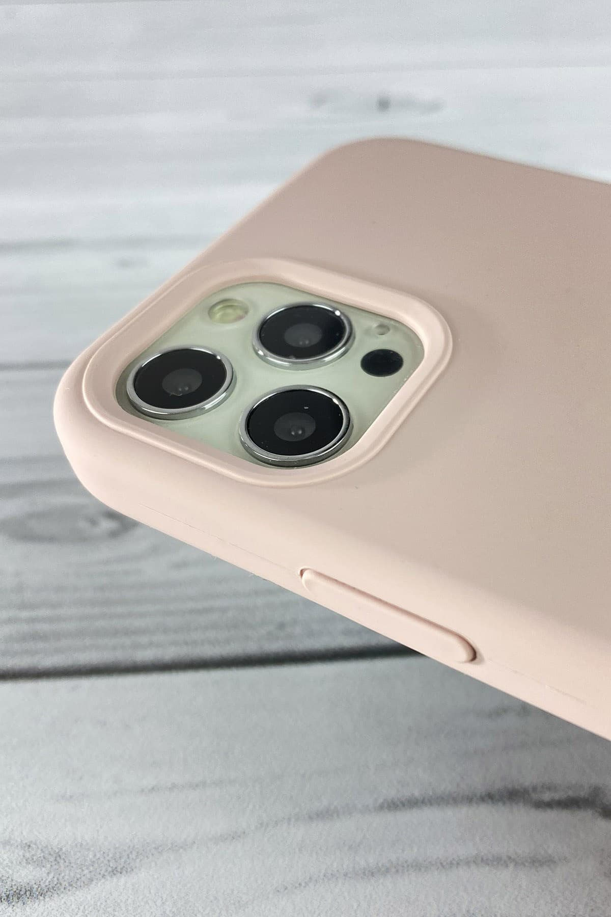 Iphone Toz Pembe Lansman Kılıf 12 Promax